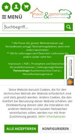 Vorschau der mobilen Webseite www.haus-gartenwelt.com, Haus- & Gartenwelt Manfred Aitzetmüller