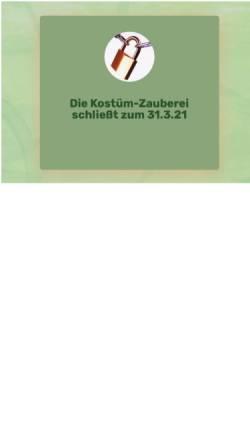 Vorschau der mobilen Webseite www.kostuem-zauberei.de, Adlershofer Kostüm-Zauberei