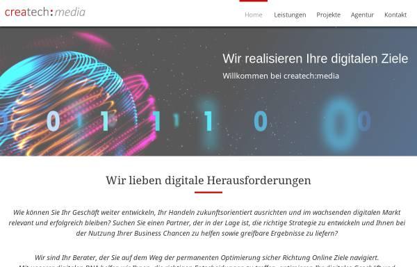 Vorschau von www.createch-media.com, CreaTech Media - Agentur für neue Medien