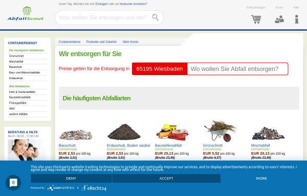 Vorschau von www.abfallscout.de, AbfallScout GmbH - Abfallentsorgung und Containerdienst - überregional