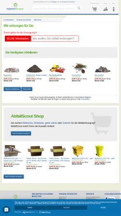 Vorschau der mobilen Webseite www.abfallscout.de, AbfallScout GmbH - Abfallentsorgung und Containerdienst - überregional