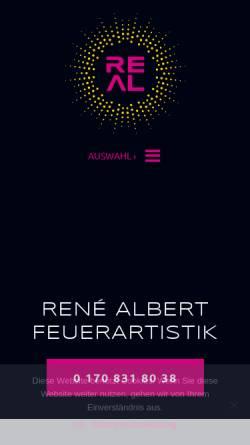 Vorschau der mobilen Webseite www.feuerartistik.com, René Albert