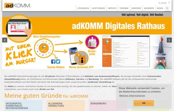 Vorschau von www.adkomm.de, AdKomm Software GmbH