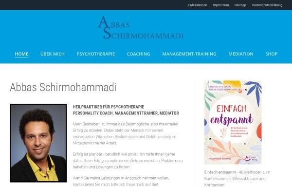 Vorschau von www.abbas-schirmohammadi.de, Abbas Schirmohammadi - Coaching, Management-Training, Mediation