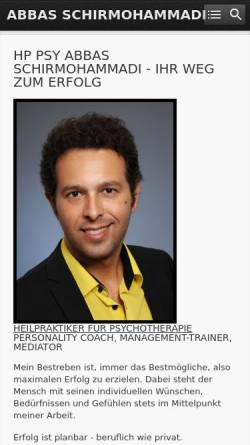 Vorschau der mobilen Webseite www.abbas-schirmohammadi.de, Abbas Schirmohammadi - Coaching, Management-Training, Mediation
