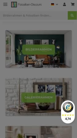 Vorschau der mobilen Webseite www.fotoalben-discount.de, Der Fotoalbum Discount