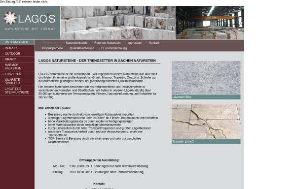 Vorschau von www.lagos-natursteine.de, Lagos Natursteine GmbH & Co KG