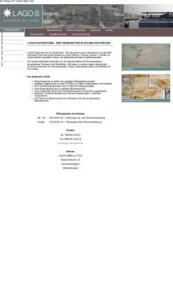 Vorschau der mobilen Webseite www.lagos-natursteine.de, Lagos Natursteine GmbH & Co KG