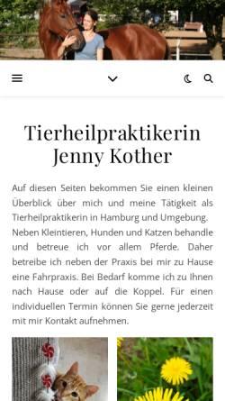 Vorschau der mobilen Webseite www.thpjk.de, Tierheilpraktikerin Jenny Kother