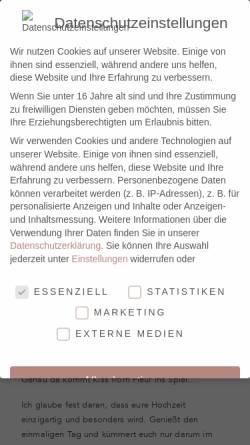 Vorschau der mobilen Webseite www.boutique-events.de, Boutique Events - Ihr persönlicher Eventkoordinator