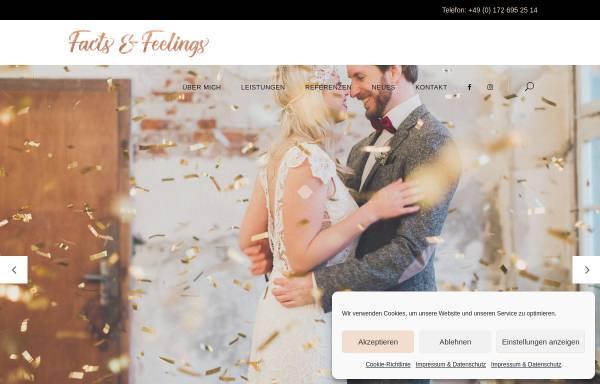 Vorschau von www.factsandfeelings.de, Factsandfeelings - stilsicher, kreativ, einfühlsam