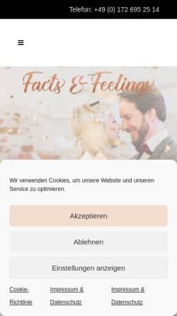 Vorschau der mobilen Webseite www.factsandfeelings.de, Factsandfeelings - stilsicher, kreativ, einfühlsam