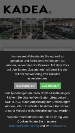 Vorschau der mobilen Webseite www.ka-de-a.de, KADEA Berlin GmbH