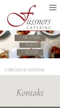 Vorschau der mobilen Webseite www.fuessners.de, Rainer`s Küche Party-Service und Catering