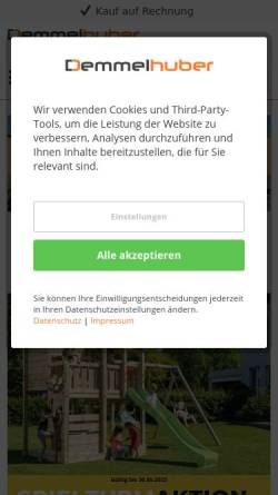 Vorschau der mobilen Webseite www.demmelhuber.net, Tischlerei und Holzfachmarkt für Garten und Kinderspielgeräte