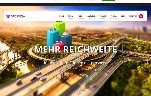 Vorschau von www.prospega.de, prospega GmbH - Gezielte Haushaltswerbung lokal und bundesweit