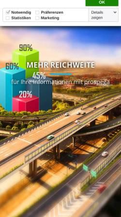 Vorschau der mobilen Webseite www.prospega.de, prospega GmbH - Gezielte Haushaltswerbung lokal und bundesweit