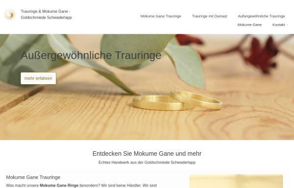 Vorschau von www.gold-schmiede.de, Goldschmiede Schwaderlapp - Mokume Gane und Unikatschmuck.