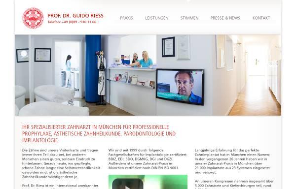 Vorschau von www.prof-riess.com, Implantologe Prof. Riess - Spezialist für Aesthetische Zahnheilkunde