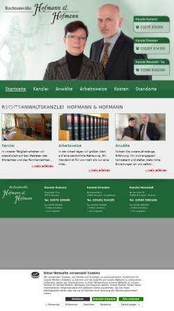 Vorschau der mobilen Webseite www.rae-hofmann.de, Rechtsanwälte Hofmann & Hofmann