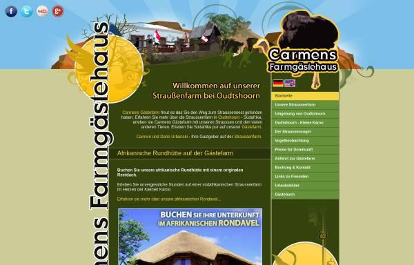 Vorschau von www.straussennest.net, Carmens Gästefarm - Ferien auf einer Straußenfarm