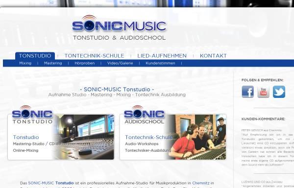 Vorschau von www.sonic-music.de, Sonic-Music Tonstudio & AudioSchool