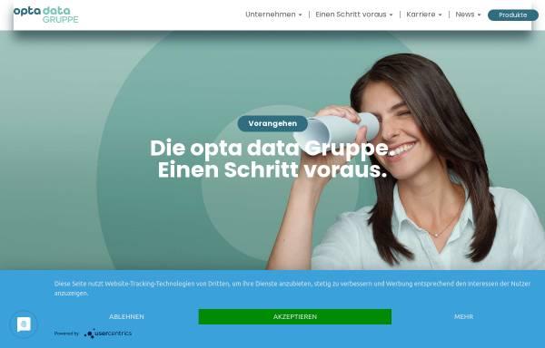 Vorschau von www.optadata-gruppe.de, opta data hard- und software GmbH