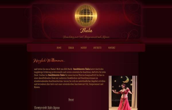 Vorschau von www.bauchtaenzerin-wesel.de, Bauchtanz mit Bauchtänzerin Thalia