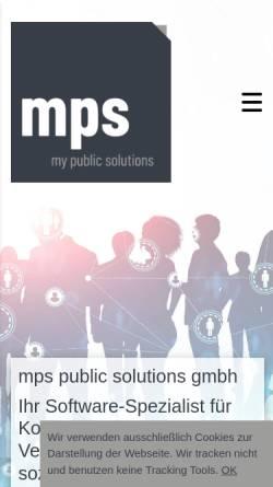Vorschau der mobilen Webseite www.mps-solutions.de, MPS Software & Systems GmbH