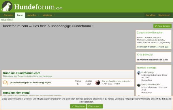 Vorschau von www.hundeforum.com, Hundeforum.com