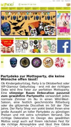 Vorschau der mobilen Webseite www.yokki.de, yokki