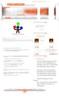 Vorschau der mobilen Webseite mdx.pixeljugglers.com, the pixeljugglers | design-studio