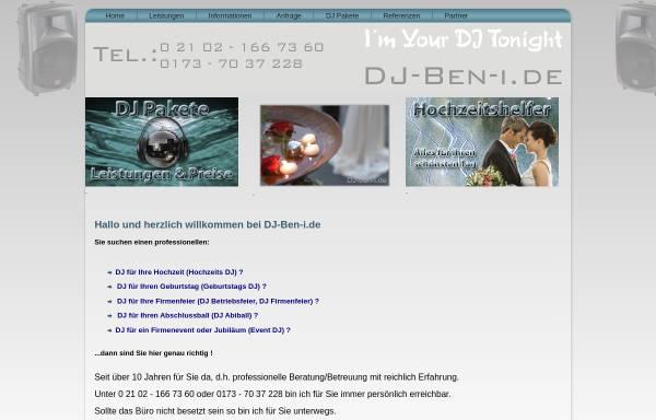 Vorschau von www.dj-ben-i.de, DJ-Ben-i