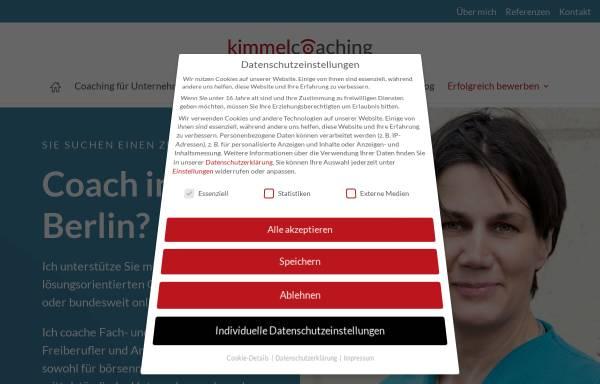 Vorschau von kimmelcoaching.de, kimmelcoaching - Esther Kimmel