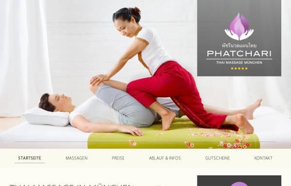 Vorschau von phatchari-massage.de, Phatchari Thai-Massage