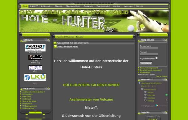 Vorschau von www.hole-hunters.de, Golf Informationsseite der Hole-Hunters-Gilde