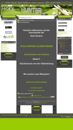 Vorschau der mobilen Webseite www.hole-hunters.de, Golf Informationsseite der Hole-Hunters-Gilde