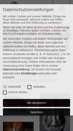 Vorschau der mobilen Webseite www.lindenmann.com, LINDENMANN, der Spezialist für Accessoires