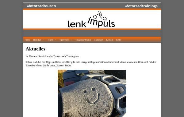 Vorschau von www.lenkimpuls.de, lenkimpuls: Motorradtouren und Sicherheitstrainings
