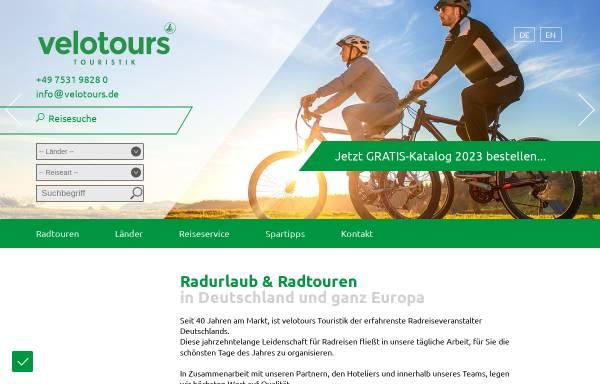 Vorschau von www.velotours.de, Velotours Touristik GmbH