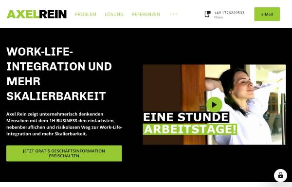 Vorschau von www.axelrein.de, Axel Rein, Fotograf und Designer