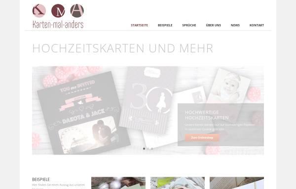 Vorschau von www.karten-mal-anders.de, Hochzeitskarten von Karten-mal-anders