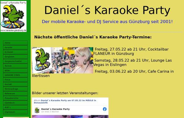 Vorschau von www.karaoke-günzburg.de, Daniels Karaoke Party