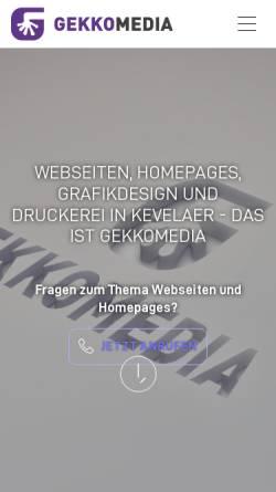 Vorschau der mobilen Webseite www.gekkomedia.de, GEKKOmedia e.K.