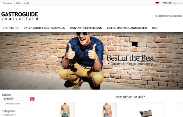 Vorschau von www.deutschland-gastroguide.de, Deutschland Gastroguide - Gastronomieverzeichnis für ganz Deutschland