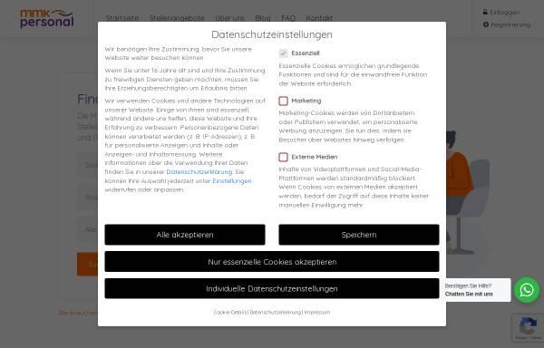 Vorschau von www.mmk-personal.de, MMK Personalberatung