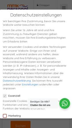Vorschau der mobilen Webseite www.mmk-personal.de, MMK Personalberatung