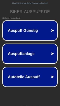 Vorschau der mobilen Webseite www.biker-auspuff.de, Biker Auspuff