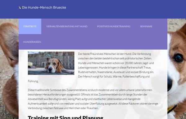 Vorschau von www.die-hunde-mensch-bruecke.de, Die Hunde-Mensch Brücke