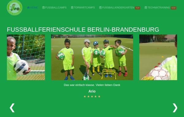 Vorschau von www.fussballschule.berlin, Fußballferienschule Berlin-Brandenburg